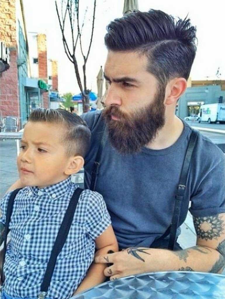 father son same haircut